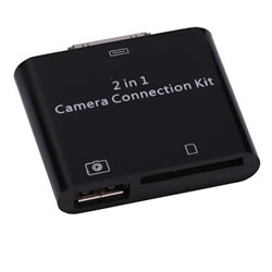 2 in1 Camera + SD Card Reader Connection Kit for iPad 2 APPLE 2IN1