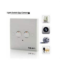 Security Wall Switch DVR Camera Detector Spy Hidden Motion Detection Camcorder