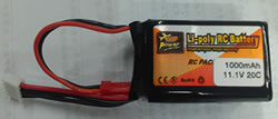 1000mAh 11.1V 20C 3s Lipo Battery Pack W/ JST Plug For RC Boat Car Heli Plane