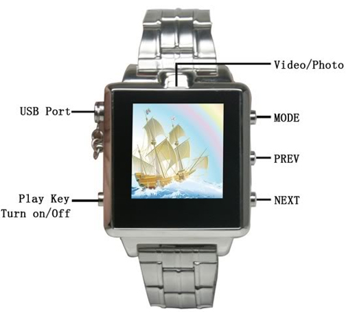 8G MP4 Spy Camera Mini DVR DV Cam Watch