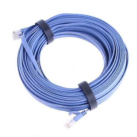 RJ45 CAT6a Flat Ethernet Patch Network Lan Cable 25M