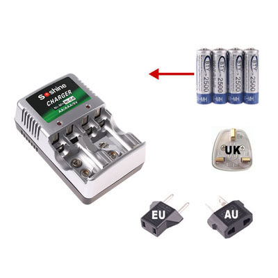 AA AAA Ni-MH PMP MP3 MP4 Rechargeable Battery Charger