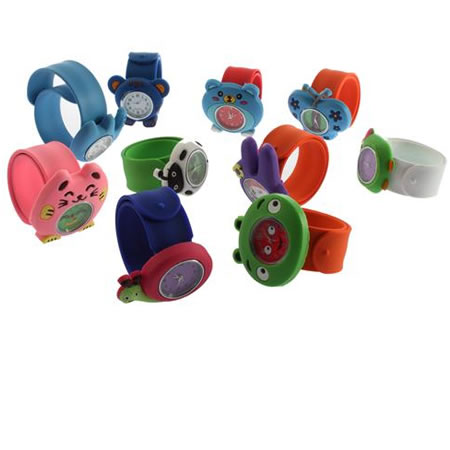 Animal Slap Snap On Silicone Wrist Watch Boys Girls Children Kids Gift Fashion