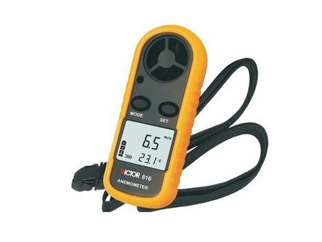 LCD Digital Wind Speed 0-30m/s Scale Gauge Meter Anemometer NTC Thermometer C/F