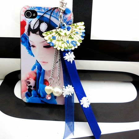 Chinese style Peking Opera facial make-up phone case for iphone4/4s 5