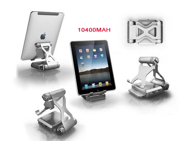 10400mAh Battery Charger Phone Tablet bracket Power Bank For cell 