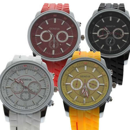 Fashion Sport Outdoor Racing Race Racer Fans Tire Pattern Men Quartz Wrist Watch
