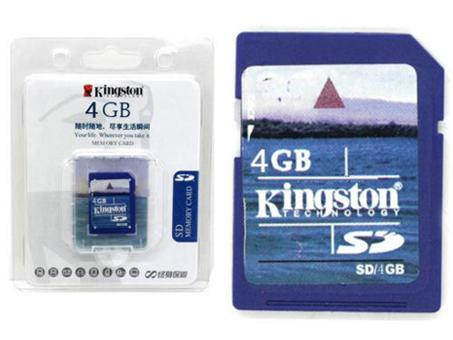 Kingston 4GB SD Memory Card (Blue) Brand New