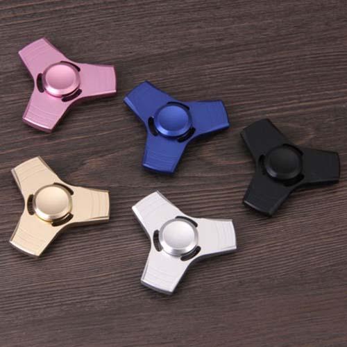 Tri Fidget Finger Fingertip Gyro Desk Toy EDC Kids Adult