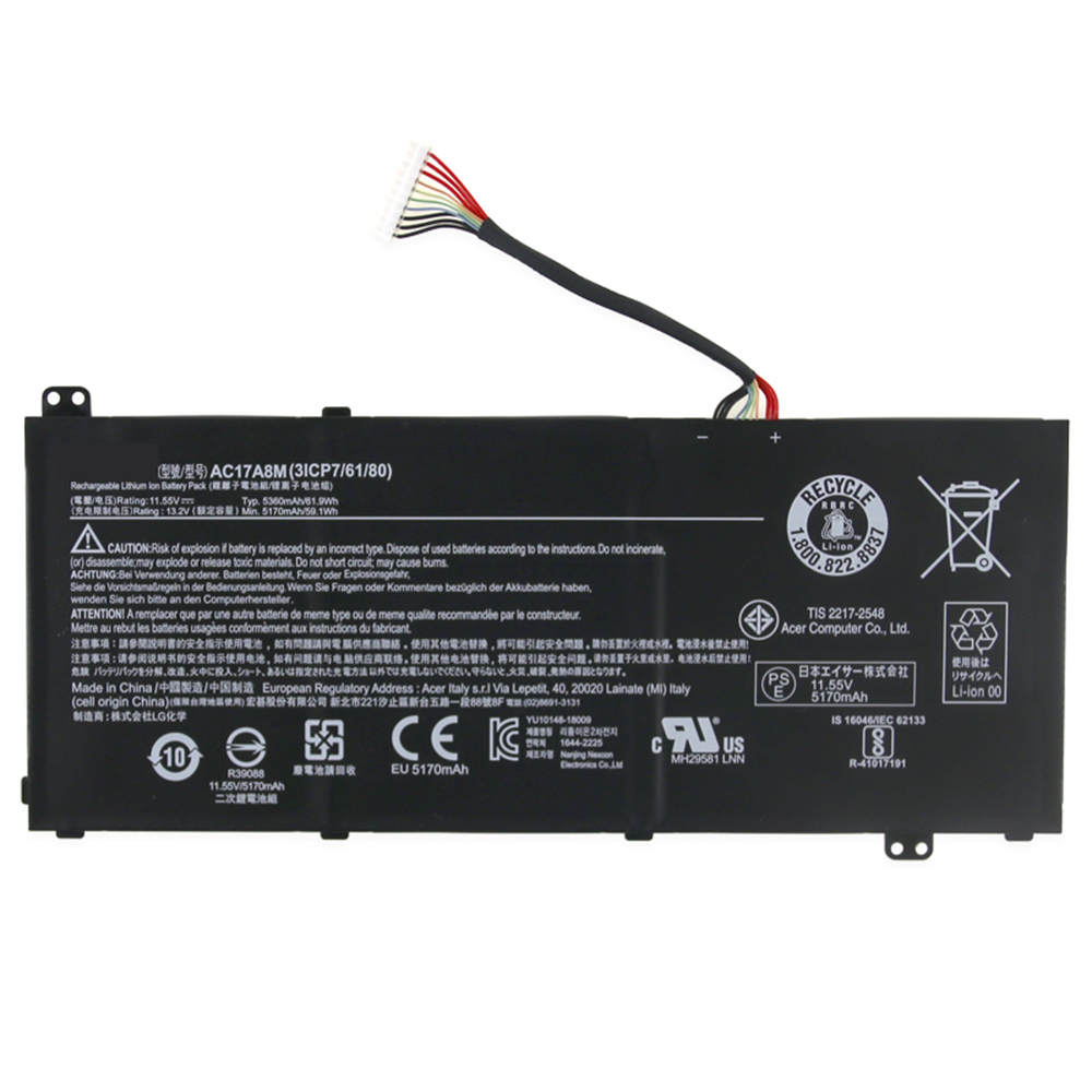 replace AC17A8M battery