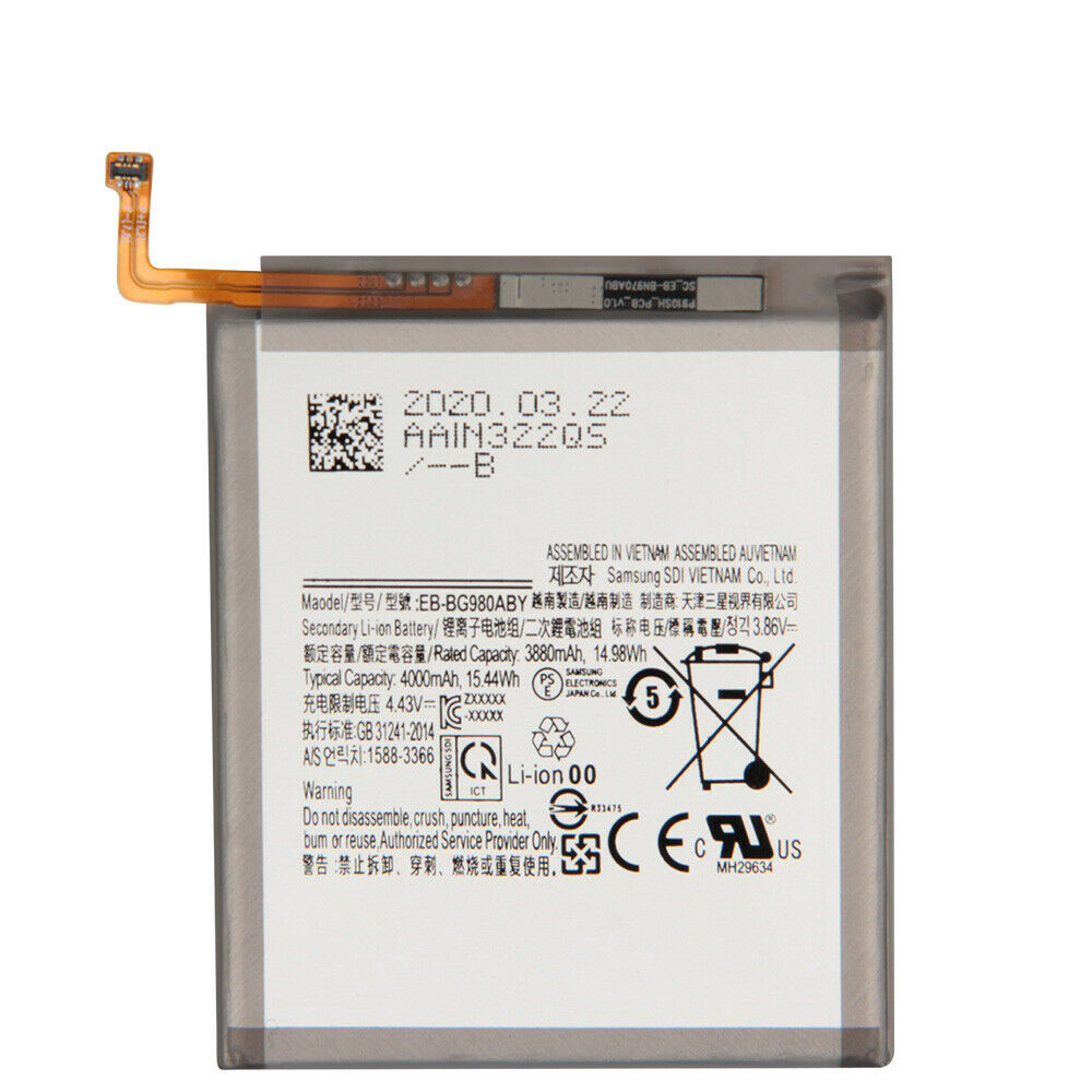 replace EB-BG980ABY battery