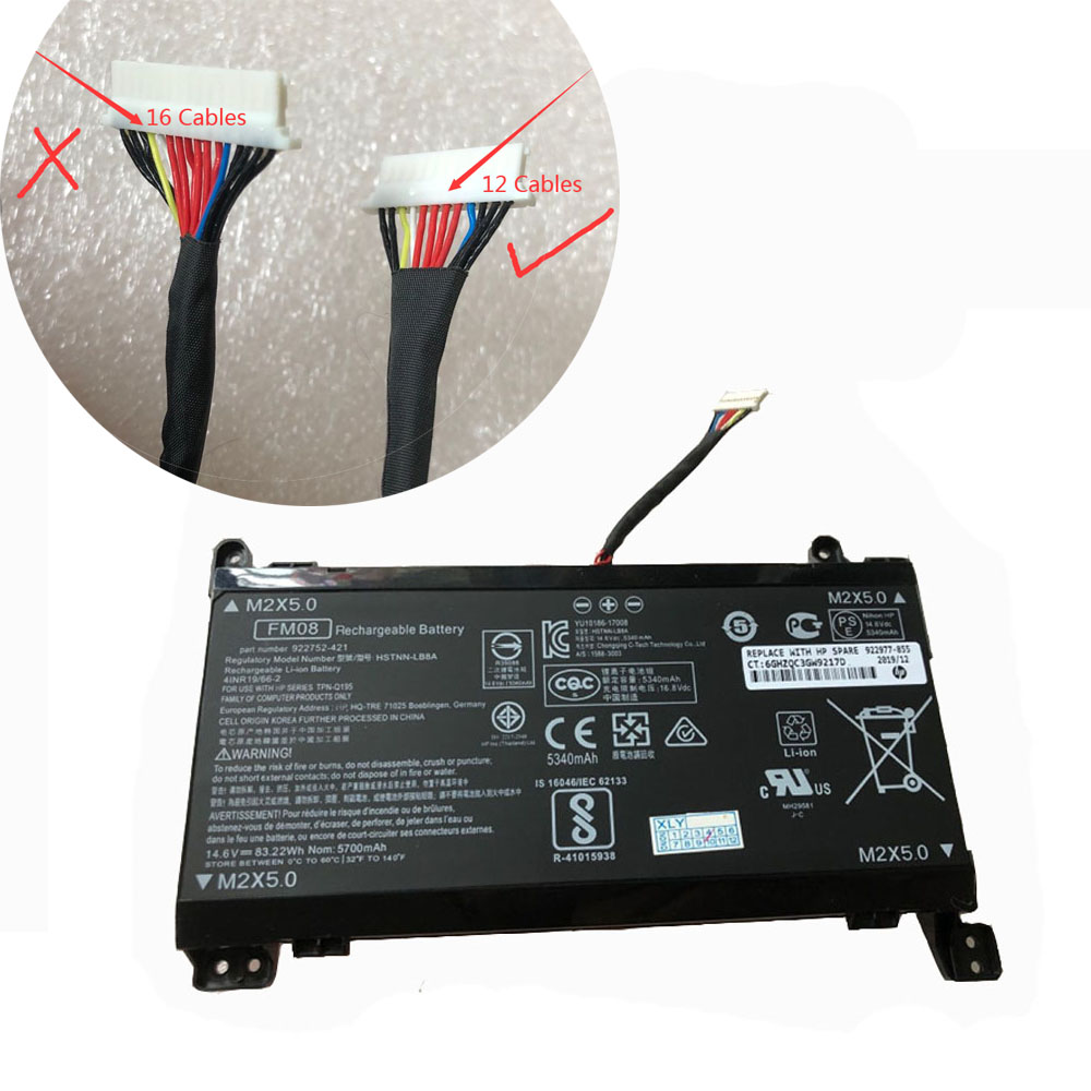 FM08 Replacement laptop Battery