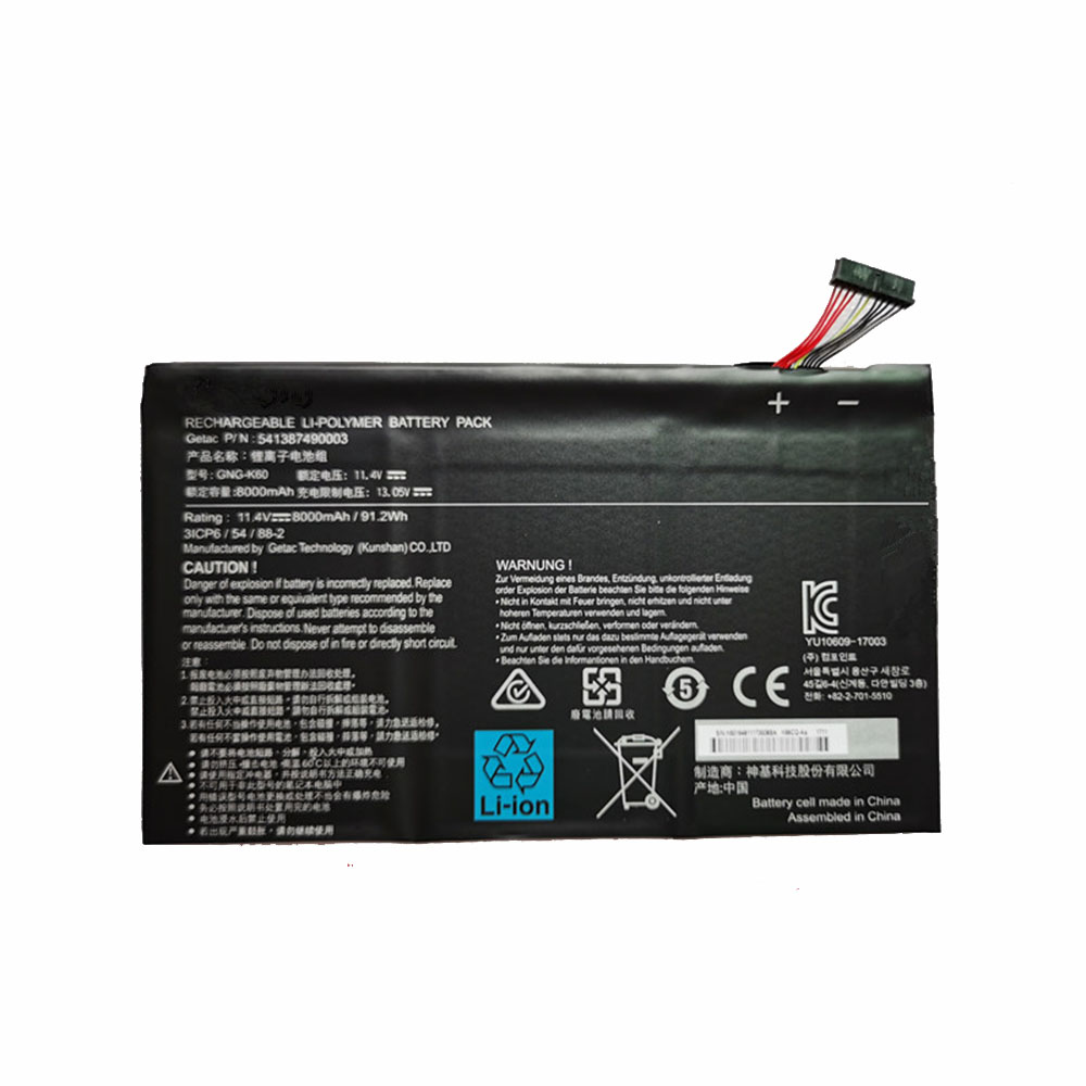 GNG-K60 Replacement laptop Battery