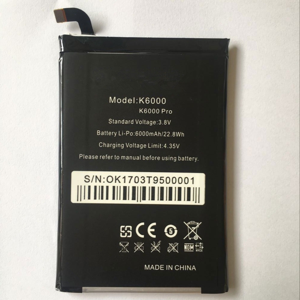K6000 Replacement  Battery