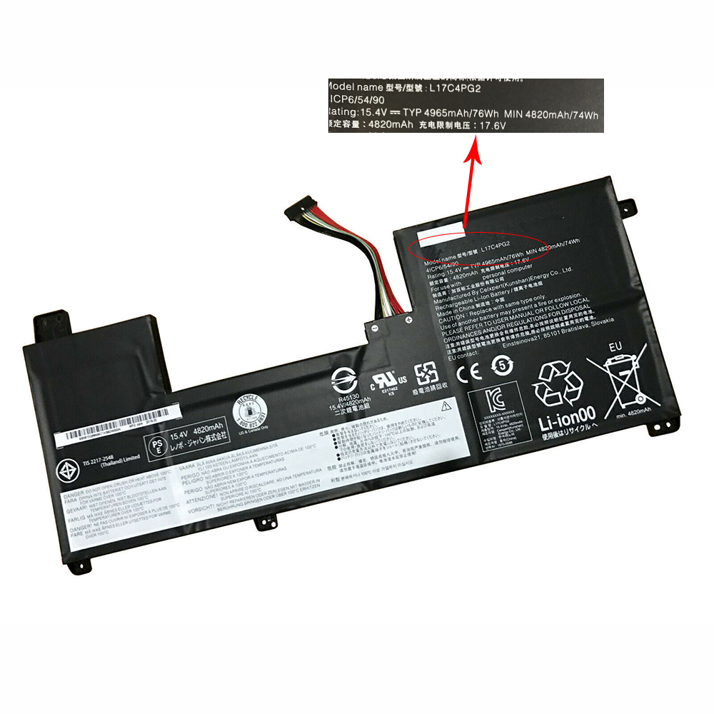 L17C4PG2 Replacement laptop Battery