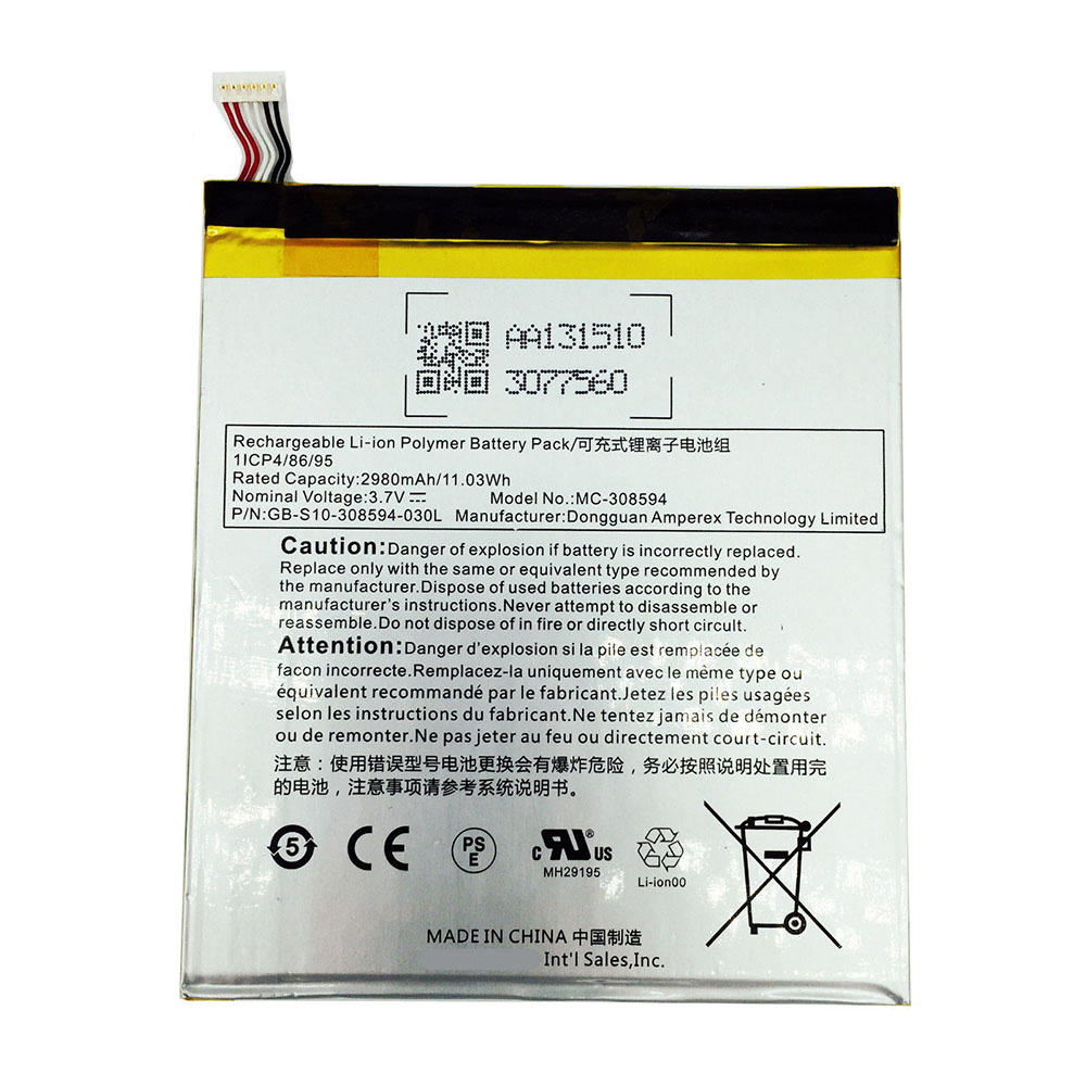 MC-308594 battery pack for Amazon Kindle Fire 7