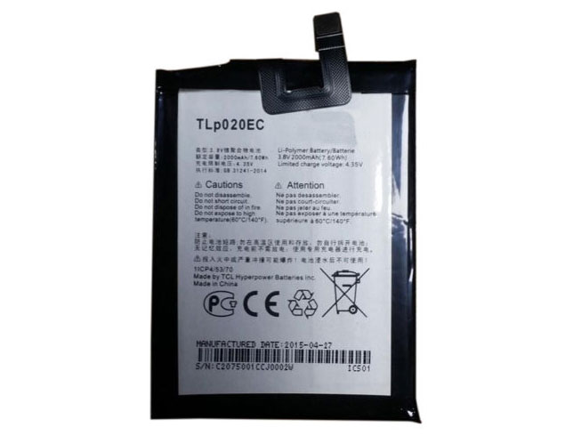 TLp020EC Replacement  Battery