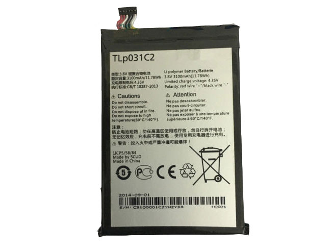 TLp031C2 Replacement  Battery