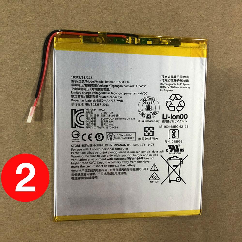 replace L16D1P34 battery